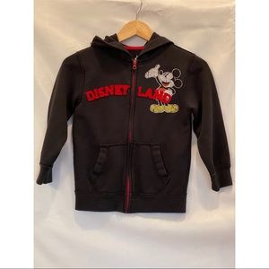 Adorable Disney Disneyland Mickey Patch Hoodie M